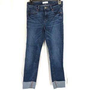 ANN TAYLOR LOFT Modern Straight Raw Hem Jeans ~ 2